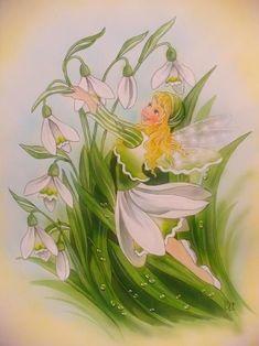 Beautiful Fairies, Beautiful Artwork, Baby Painting, Tole Painting, Fairy Photography, Fairy Paintings, Fairy Crafts, Vintage Fairies, Woodland Fairy