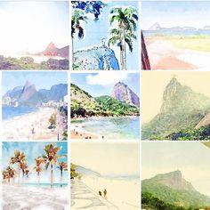 Watercolor by @aquaRIOcolor Rio de Janeiro -  All Rights Reserved ®