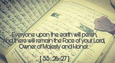 All will perish except He (subhana wa ta'alaa) #Allah