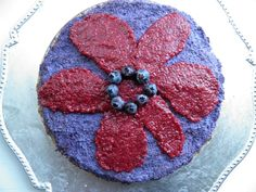 RAWKCAKE WITH BLUEBERRY AND CRAMNBERRY (Lykkebobla)