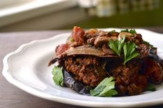 Paleo Eggplant lasagna