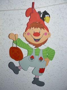 Lutin et citrouille Autumn Crafts, Autumn Art, Autumn Leaves, Fall Preschool, Preschool Crafts, Diy And Crafts, Crafts For Kids, Paper Crafts, Autumn Activities