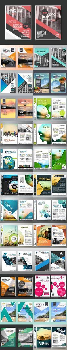 Business cover flyers brochure design 26