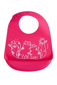 -The plastic-free Bucket-bib is made of pure, silky soft & reusable silicone that keeps your baby's sensitive skin happy & prevents single-use options from ending up in our oceans & landfills. Reuse over & over knowing that your baby is safe from lead, latex, phthalates, BPAs, & other harsh chemicals found in plastic & lower-grade silicone. Roll up the flexible, memory-free bib for on-the-go dining & rescue clothes from endless spills & stains with the non-porous & dishwasher safe material…