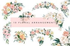 Flower Watercolor Clipart - Dusk - Illustrations