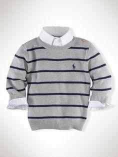 Striped Crewneck Sweater - Infant Boys Sweaters - RalphLauren.com