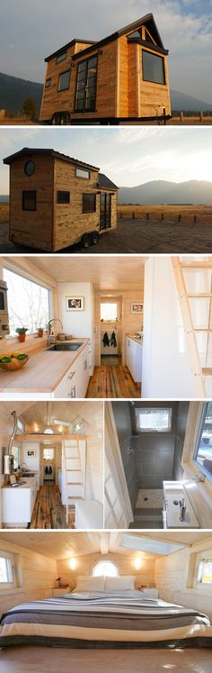With the rustic Oregon wilderness as their inspiration, Tongue & Groove Tiny Homes created The Hiatus, a 170 sq.ft. tiny house.