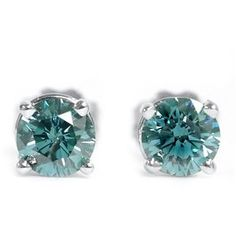 Diamantohrstecker mit 1.00 Karat blaue Diamanten in der Reinheit VS2-SI1. Diese Diamantohrstecker sind für nur 2999.00 Euro bei www.juwelierhausabt.de erhältlich.