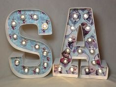 Snow Queen Theme 8 Lighted Marquee Sign by JessiesGiftBoutique