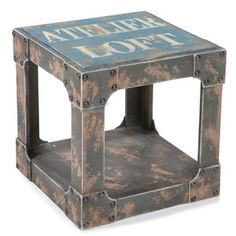 Loft Side Table Blue now featured on Fab.