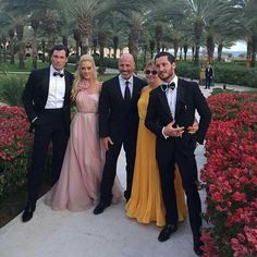 Mr & Mrs Chmerkovskiy with their son & future Daughter-in-law, Maksim, Valentin & Peta Murgatroyd
