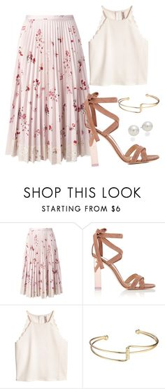 """agnes"" by thefashionguilty on Polyvore featuring RED Valentino, Gianvito Rossi and AK Anne Klein"