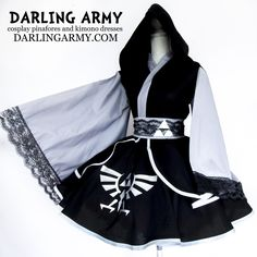 Link Legend of Zelda Cosplay Skirt Kimono Dress Wa Lolita Accessory | Darling Army