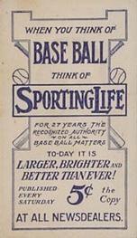 1910-11 Sporting Life M116 #200 Charley O'Leary Back