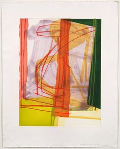 "Amy Sillman, Untitled (#11), 2007, Gouache and colored pencil on etching paper, 34"" x 28"""