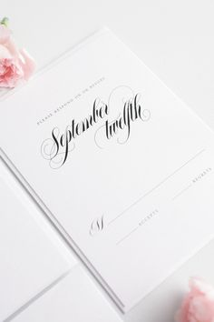 Calligraphy RSVP card wording | Shine Wedding Invitations