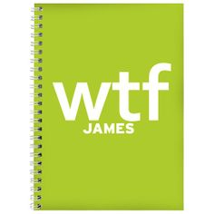 Personalised WTF Slogan Notebook  from Personalised Gifts Shop - ONLY £6.99