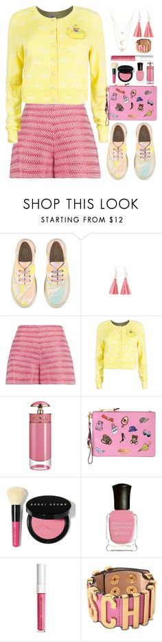 """Pink and Yellow"" by gicreazioni ❤ liked on Polyvore featuring STELLA McCARTNEY, Alexis, Prada, Moschino, Bobbi Brown Cosmetics, Deborah Lippmann and Gabi Rielle"