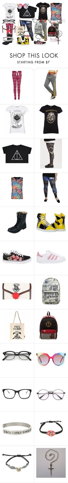 """Teen Styles 14: Sammie, Kelly, Autumn, and Me"" by patiencecat on Polyvore featuring Warner Bros., Torrid, Vans, adidas Originals, MCM, Bottega Veneta, glasses and teenstyles"