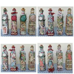 Victorian Dolls, Victorian Traditions, The Victorian Era, and Me: My Christmas Victorian Themed Mixed Media and Collage Embellished Bottles Christmas Mix, Christmas Words, Christmas Paper, Christmas Bells, Christmas Images, Christmas Angels, Christmas Crafts, Victorian Angels, Victorian Dolls