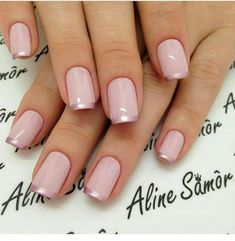 Nail art is a very popular trend these days and every woman you meet seems to have beautiful nails. It used to be that women would just go get a manicure or pedicure to get their nails trimmed and shaped with just a few coats of plain nail polish. Natural Nail Designs, Gold Nail Designs, Elegant Nail Designs, Elegant Nails, Nails Design, French Tip Nail Designs, Rose Gold Nails, Pink Nails, Metallic Nails