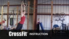 """""""the kipping muscle-up,"""" starring laurie galassi, video by hollis molloy; crossfit hq, youtube: 1 of my friends really likes working on muscle.ups by starting lying down on the floor.  you do that ninja get up thing right into a low ring dip.  i should try this someday."""