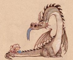 "Blue Tongue Battle by `imaginism Traditional Art / Drawings / Illustration / Storybook `imaginism Book ""Dragon Sketches"" Materials: pen & ink by Kei Acedera Magical Creatures, Fantasy Creatures, Dragon Illustration, Digital Art Gallery, Dragon's Lair, Cute Dragons, Sword And Sorcery, Dragon Art, Pet Dragon"