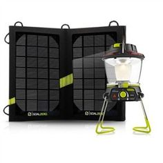 The Goal Zero Lighthouse 250 kit consist of Lighthouse 250 and Nomad 7 solar panels.