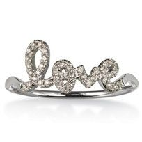 White Gold Diamond Love Ring