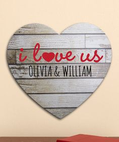 Personal Creations Gray 'I Love Us' Wood Heart Personalized Sign Romantic Messages, Pallet Signs, Personalized Signs, Rustic Charm, Our Love, Wedding Gifts, Just For You, Diy Projects