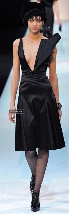 Giorgio Armani Fall Winter 2013-14 Collection - Hot #LittleBlackDress