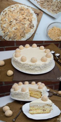 If you've ever had tried Raffaello Chocolates, you will recognize this cake immediately. It's moist, and tastes like candy with every bite.