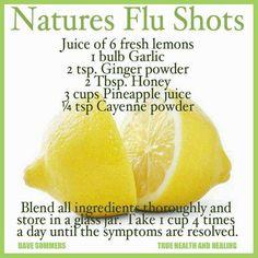 Natures Homemade Flu Shots