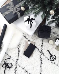 black and white wrapping