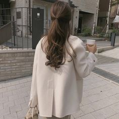 Hair Long Korean Ulzzang Fashion Source by dresses fashionYou can find Ulzzang and more on our Hair Long K. Ulzzang Fashion, Ulzzang Girl, Korean Fashion, Korean Ulzzang, Hair Inspo, Hair Inspiration, Aesthetic Hair, Beige Aesthetic, Dream Hair