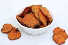 Curried Sweet Potato Chips - Gluten-free   Vegan