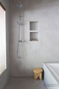 remodeling ideas bathroom is certainly important for your home. Whether you pick the small bathroom storage ideas or bathroom remodel shiplap, you will create the best remodeling bathroom ideas for your own life. Grey Bathrooms, Modern Bathroom, Small Bathroom, Minimalist Bathroom, Luxury Bathrooms, Master Bathrooms, Bathroom Ideas, Concrete Bathroom, Bathroom Flooring