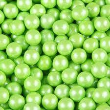 Pearl Lime Green Sixlets 10LB Bulk