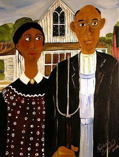 Art: American Gothic, African American Artist Kimberly Burgess