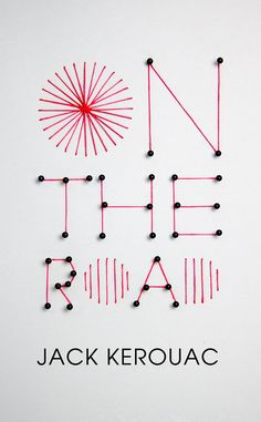 "Such a cool idea for a one-off ""print""!  On The Road by Jack Kerouac - Book cover by Mina Bach"