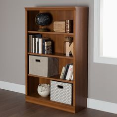 Keep organized in style with the South Shore Morgan 4-shelf Bookcase. This 4-tier bookcase features a classic design in a variety of finishes with 3 adjustable shelves for convenience and customization.
