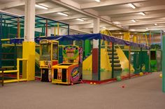 Kid's Factory Fun House - very good, spacious indoor playground in Waterloo.  Decent 'café' with birds-eye-view of the play area.