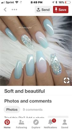 Nagelideen Landscape Design - Well Balanced Home Landscaping Balance is a principle of all art forms Gorgeous Nails, Pretty Nails, Hair And Nails, My Nails, Cinderella Nails, Blue Gel Nails, Homecoming Nails, Best Acrylic Nails, Powder Nails