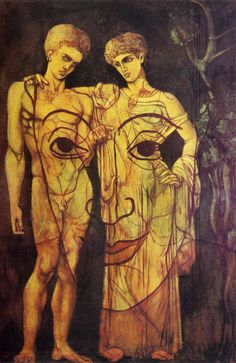 Surrealismo. «Adán y Eva» por Francis Picabia Tamaño: 110x200 cm  Medio: óleo, lienzo