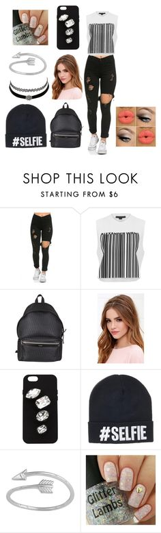 """""""selfie"""" by udontknowme1267 on Polyvore featuring Alexander Wang, Yves Saint Laurent, Lulu*s, STELLA McCARTNEY and Charlotte Russe"""
