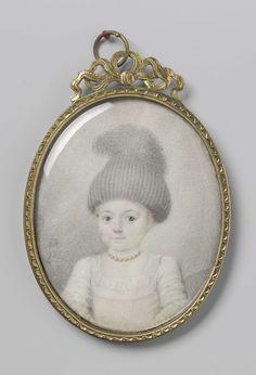 Portret van een meisje met een 'valhoedje', Joseph Marinkel, 1778 Miniature Portraits, Miniature Paintings, Art Antique, Historical Costume, Children And Family, Marie Antoinette, Bow, 18th Century, Joseph