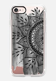 Casetify iPhone 7 Classic Grip Case - Black Mandala by Li Zamperini Art #Casetify
