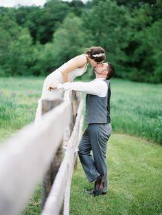 Katie & James | Wisconsin Barn Wedding at Sugarland by Emily Steffen - via snippetandink