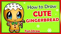 How to Draw Easy - Step by Step - Christmas Gingerbread Man - Fun2draw