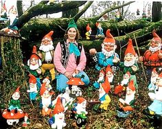The hobby of the English eccentric - collecting gnomes (and then dressing like one)